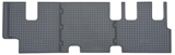 Rubber automat 3e zitrij Volkswagen / VW Transporter T5 & T6 achtermat_