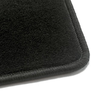 Luxe velours zwarte automatten VW Golf 6 Cabrio