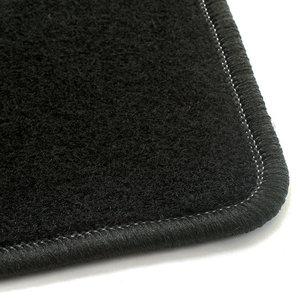 Naaldvilt zwart automatten Fiat 500